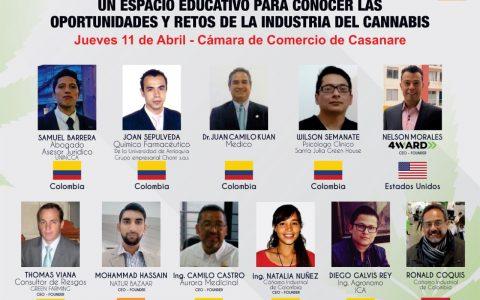 1er Foro Internacional Oportunidades y Retos de la Industria del Cannabis para la Orinoquia (Conferencistas)